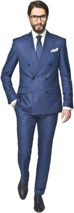 garnitur brit 311 granatowy slim fit 176 100 90