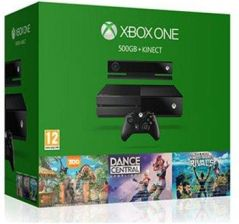 Produkt z outletu: MICROSOFT Xbox One 500 GB + Sensor Kinect + Kinect Sport Rivals + Zoo Tycoon + Dance Central Spotlight + Live Gold 3 m-ce