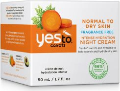 yes to Carrots Fragrance-Free Intense Hydration Night Cream - zdjęcie 1