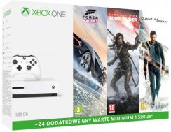 Microsoft Xbox One S 500 Gb + Forza Horizon 3 + Quantum Break + Rise Of The Tomb Raider