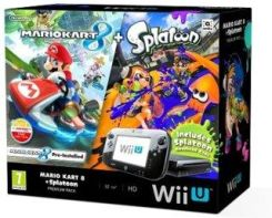 Produkt z outletu: NINTENDO Wii U Premium Pack Black + Mario Kart 8 + Splatoon + New Super Mario Bros. U + New Super Luigi U