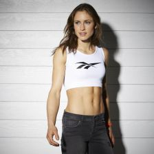DC FITNESS CROP TOP WHITE