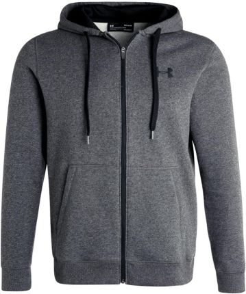 Under Armour RIVAL FITTED FULL ZIP Bluza rozpinana carbon heather