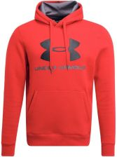 Under Armour RIVAL FITTED GRAPHIC  Bluza red - zdjęcie 1