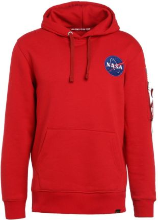 Alpha Industries SPACE SHUTTLE  Bluza z kapturem speed red