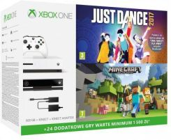 Microsoft Xbox One S 500Gb + Kinect + Minecraft + Just Dance