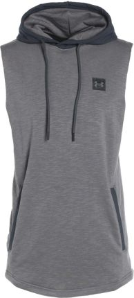 Under Armour SPORTSTYLE SLEEVELESS Bluza z kapturem true gray heather