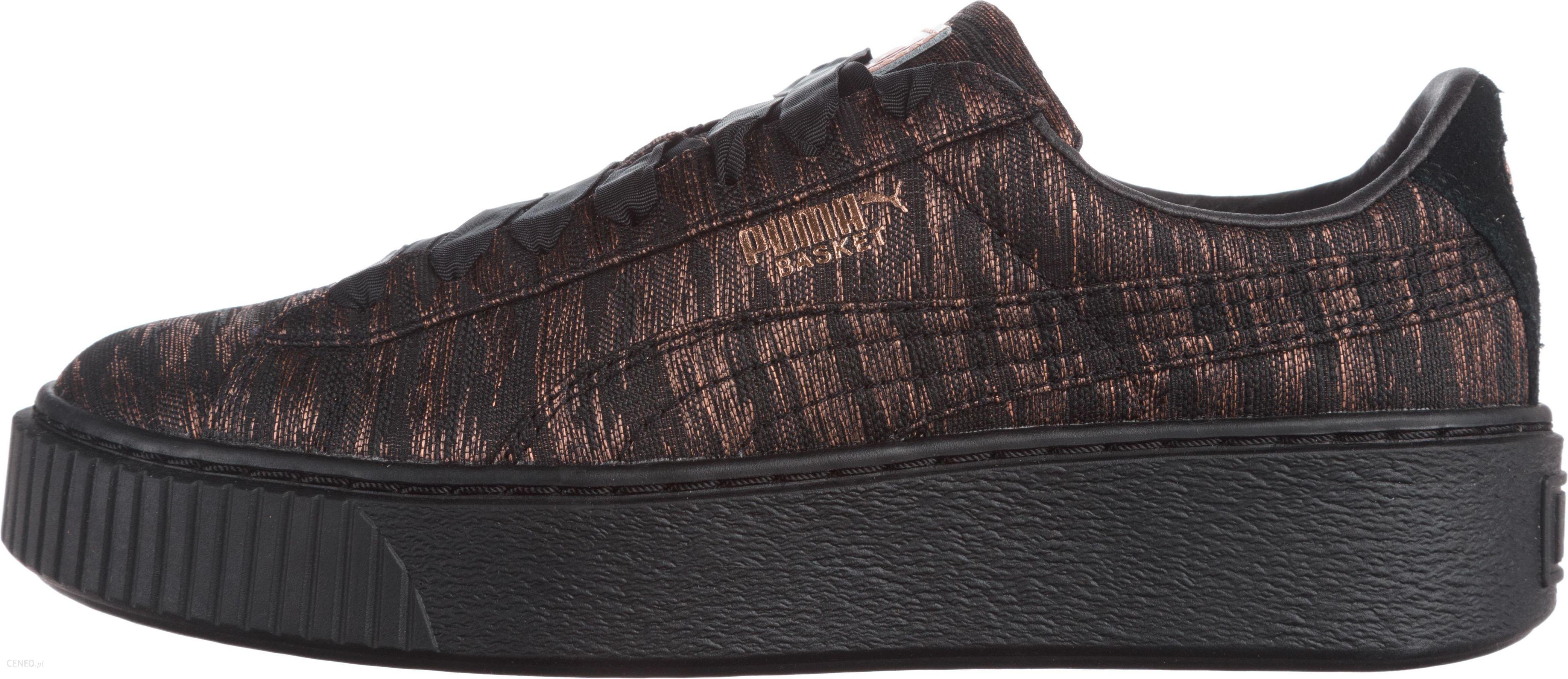 puma basket platform czarne