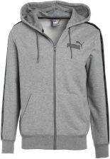 Puma REBEL TAPE Bluza rozpinana medium grey heather - zdjęcie 1