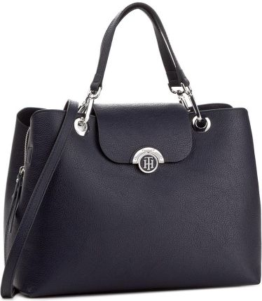 Torebka TOMMY HILFIGER - Effortless Novelty Satchel Print AW0AW04635 901