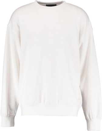 Mennace BOXY CREW PLAIN SIGNATURE Bluza off white