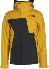 The North Face MOUNTAIN 2IN1 Kurtka zimowa drak grey/yellow