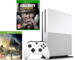 MICROSOFT XBOX ONE S 500GB + Call Of Duty WWII + Assassin's Creed Origins