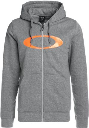 Oakley ELLIPSE HOODIE Bluza rozpinana athletic heather grey