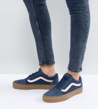 vans old skool gum sole blue