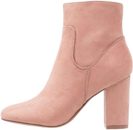 ONLY SHOES ONLBRIDGE BOOTIE Botki na obcasie old rose