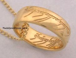 Badali Jewelry LOTR Gollum Gold Necklace (GG-01)