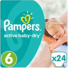 Pampers Active Baby-Dry Rozmiar 6 (Extra Large) 24 Pieluszki