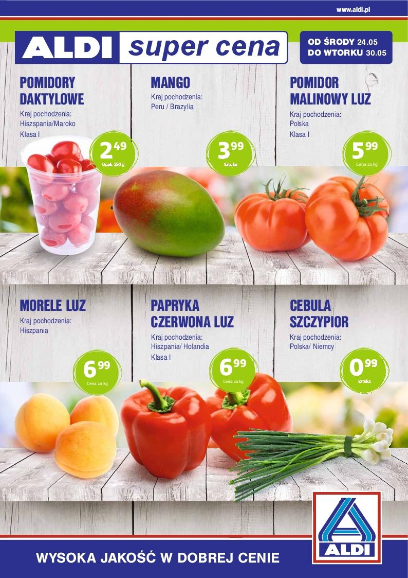 Gazetka ALDI SP Z O O  nr 0 od 2017-05-24 do 2017-05-30
