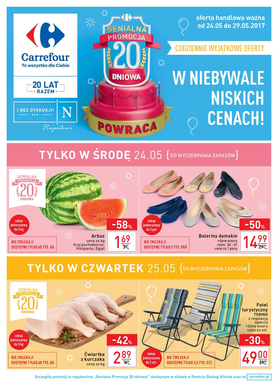 Gazetka Carrefour Polska Sp. z o.o. nr 0 od 2017-05-24 do 2017-05-29