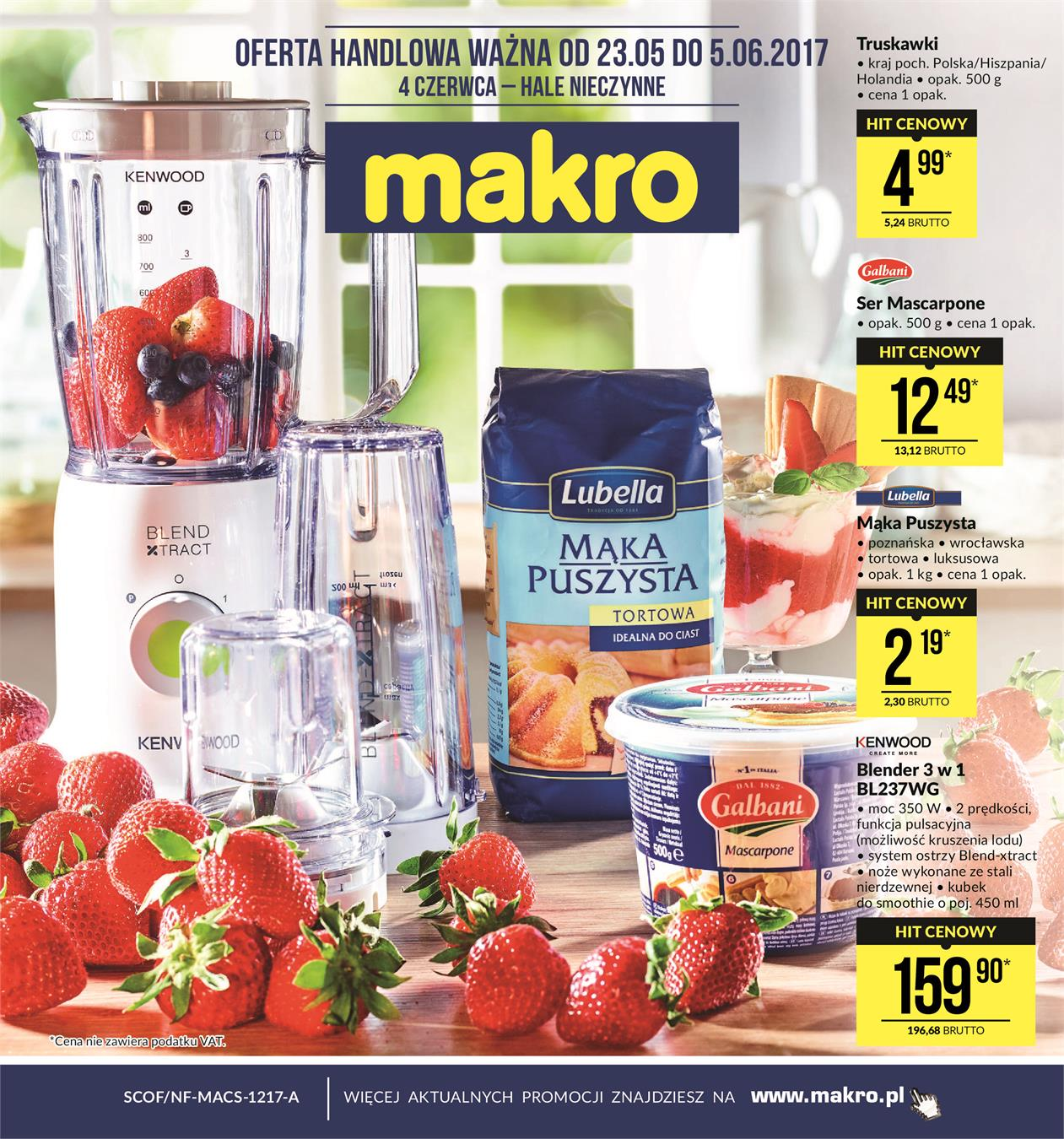 Gazetka MAKRO CASH AND CARRY POLSKA S A nr 0 od 2017-05-23 do 2017-06-05