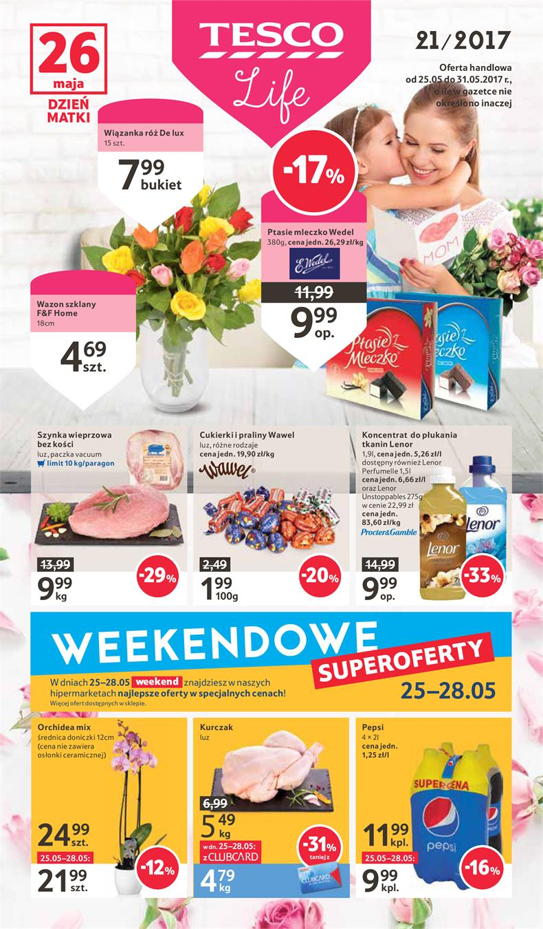 Gazetka Tesco Polska Sp. z o.o. nr 0 od 2017-05-25 do 2017-05-31