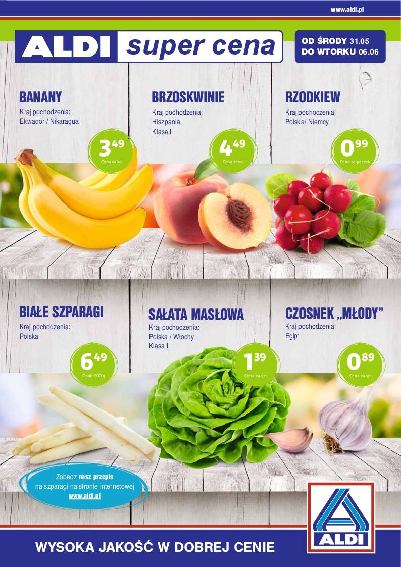 Gazetka ALDI SP Z O O  nr 0 od 2017-05-31 do 2017-06-06