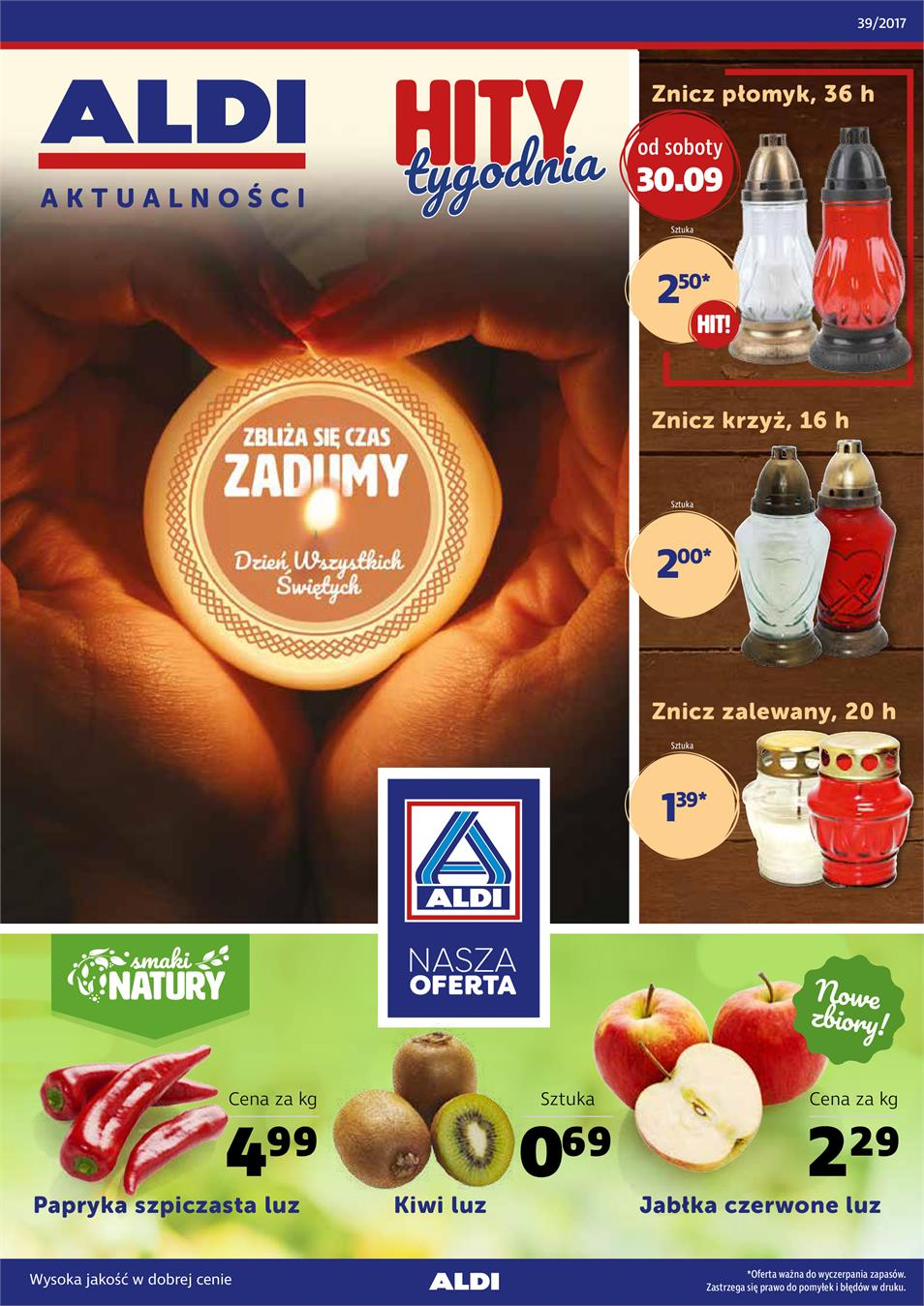 Gazetka ALDI SP Z O O  nr 0 od 2017-09-27 do 2017-10-03