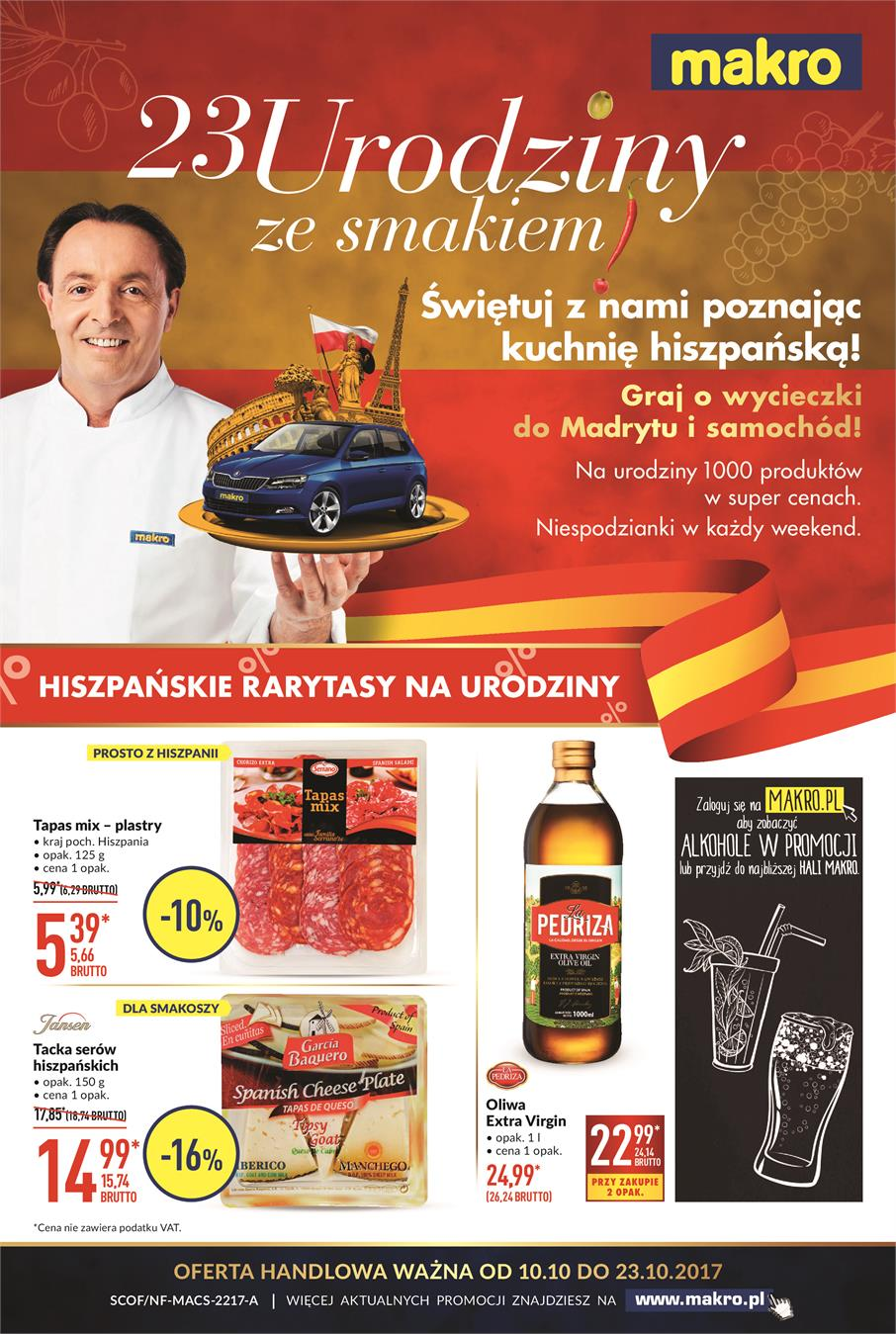 Gazetka MAKRO CASH AND CARRY POLSKA S A nr 0 od 2017-10-10 do 2017-10-23