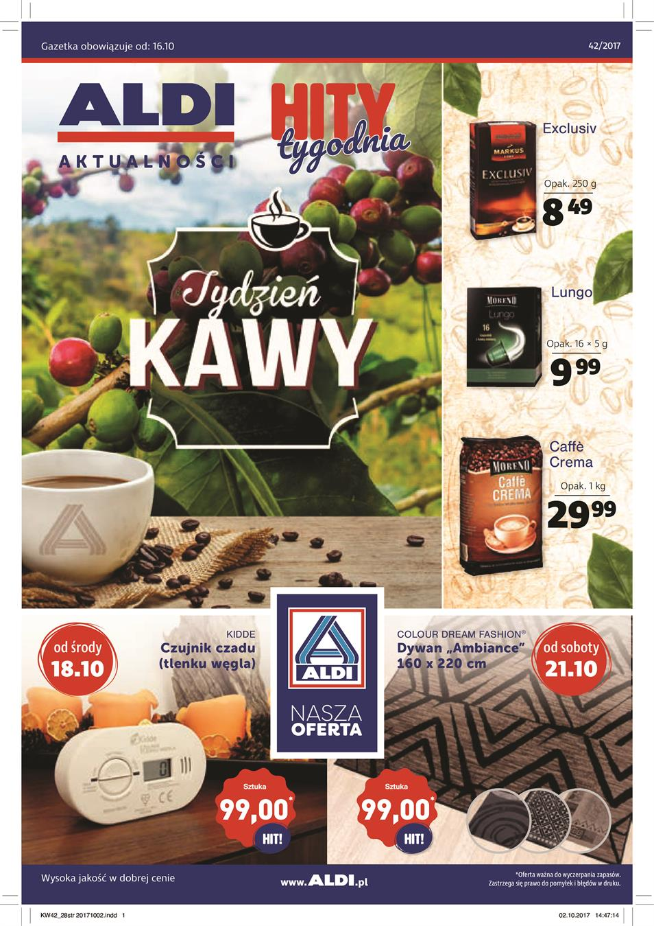 Gazetka ALDI SP Z O O  nr 0 od 2017-10-18 do 2017-10-24
