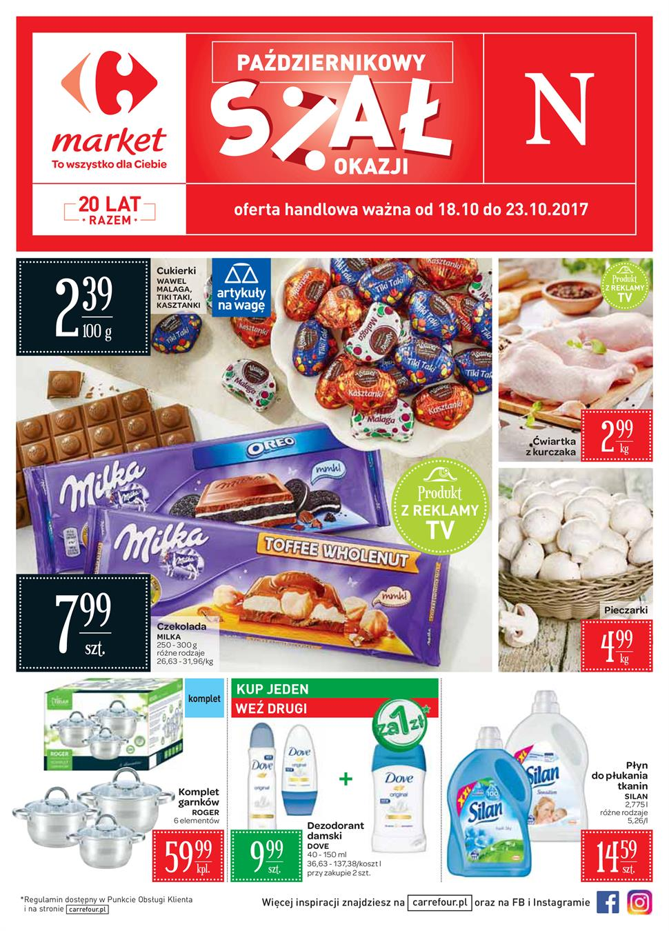 Gazetka Carrefour Polska Sp. z o.o. nr 0 od 2017-10-18 do 2017-10-23