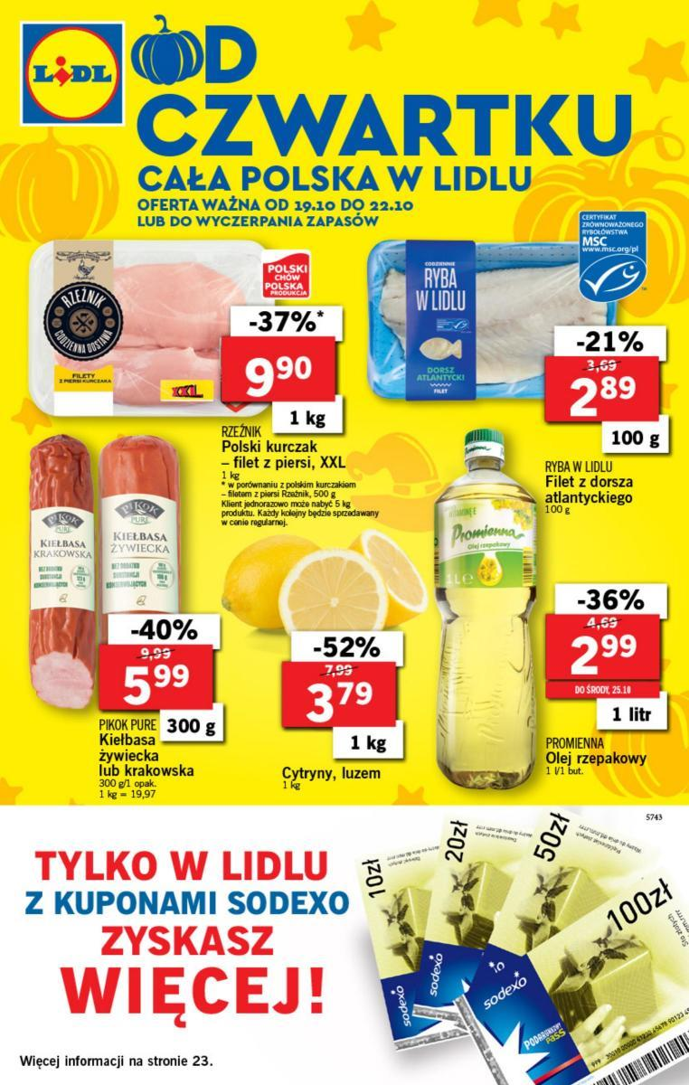 Gazetka Lidl Polska Sp. z o.o. nr 0 od 2017-10-19 do 2017-10-22
