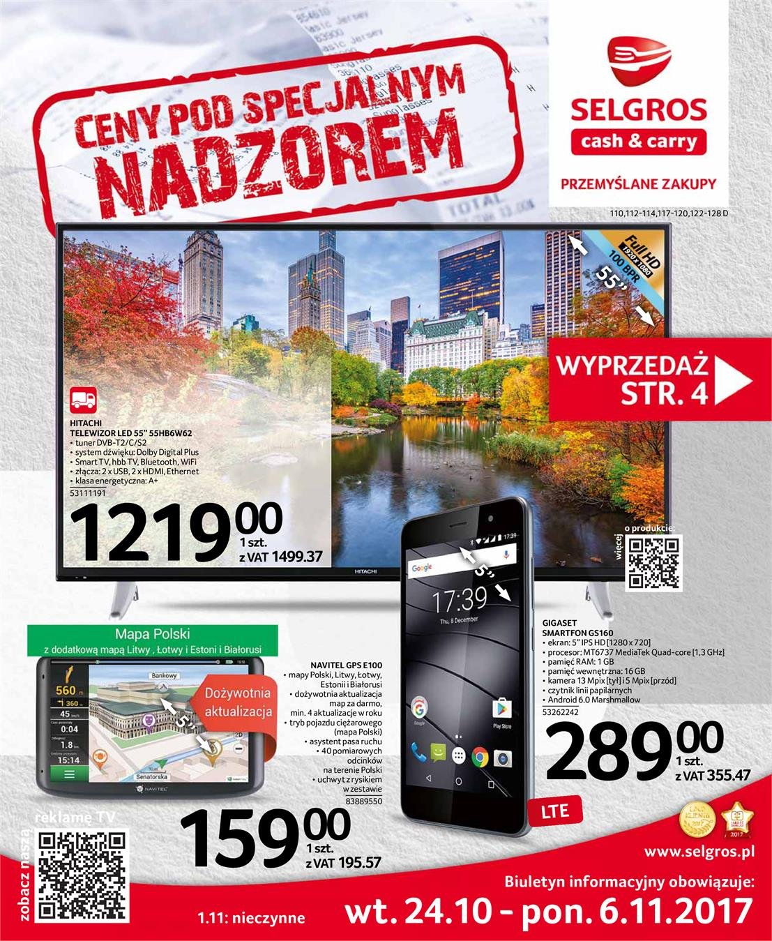 Gazetka Selgros Sp. z o.o. nr 0 od 2017-10-24 do 2017-11-06