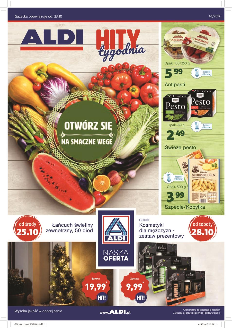 Gazetka ALDI SP Z O O  nr 0 od 2017-10-23 do 2017-10-29