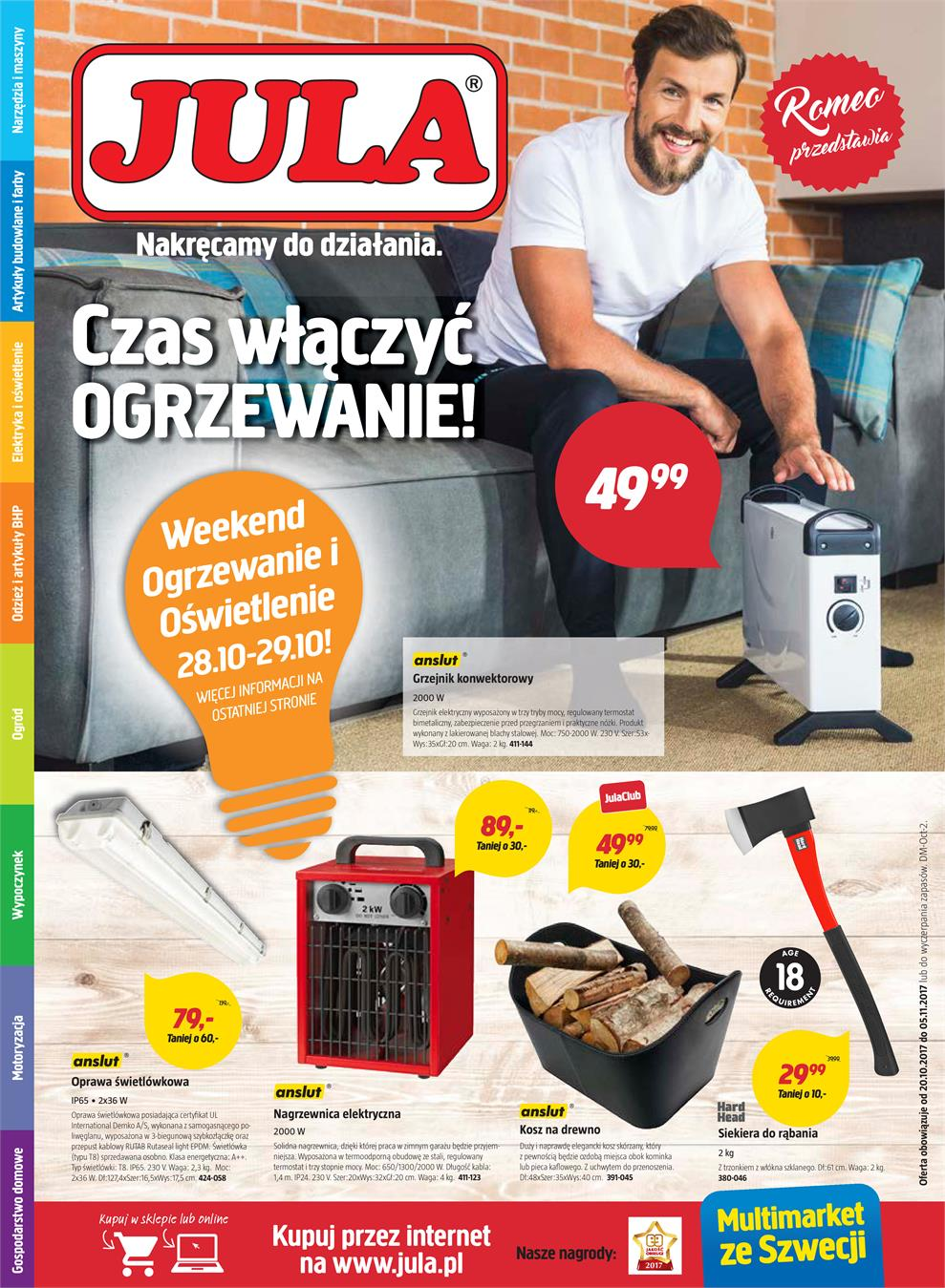 Gazetka Jula Poland Sp. z o.o. nr 0 od 2017-10-20 do 2017-11-05