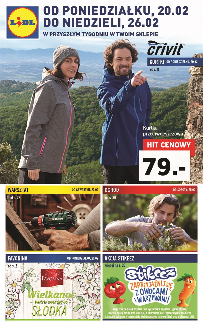 Gazetka Lidl Polska Sp. z o.o. nr 0 od 2017-02-20 do 2017-02-26