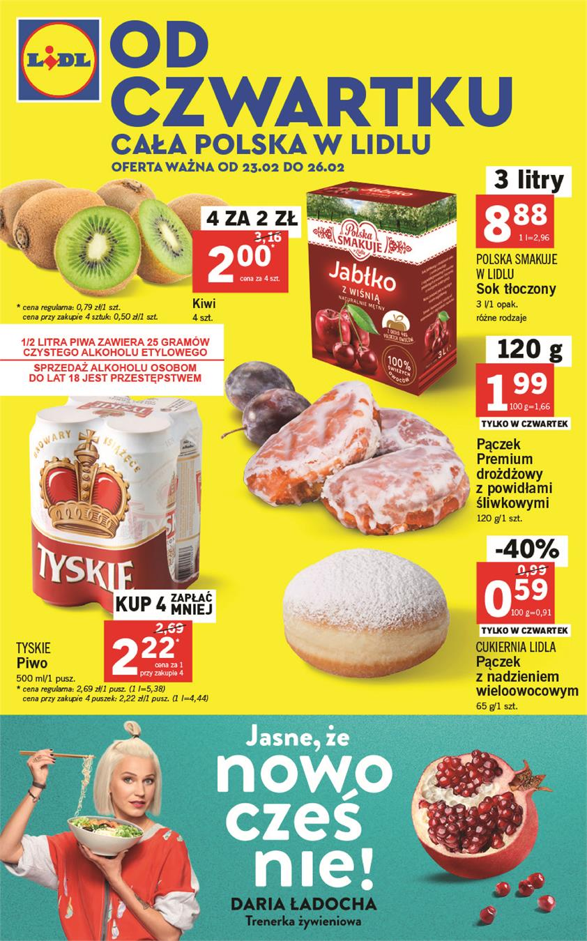 Gazetka Lidl Polska Sp. z o.o. nr 0 od 2017-02-23 do 2017-02-26