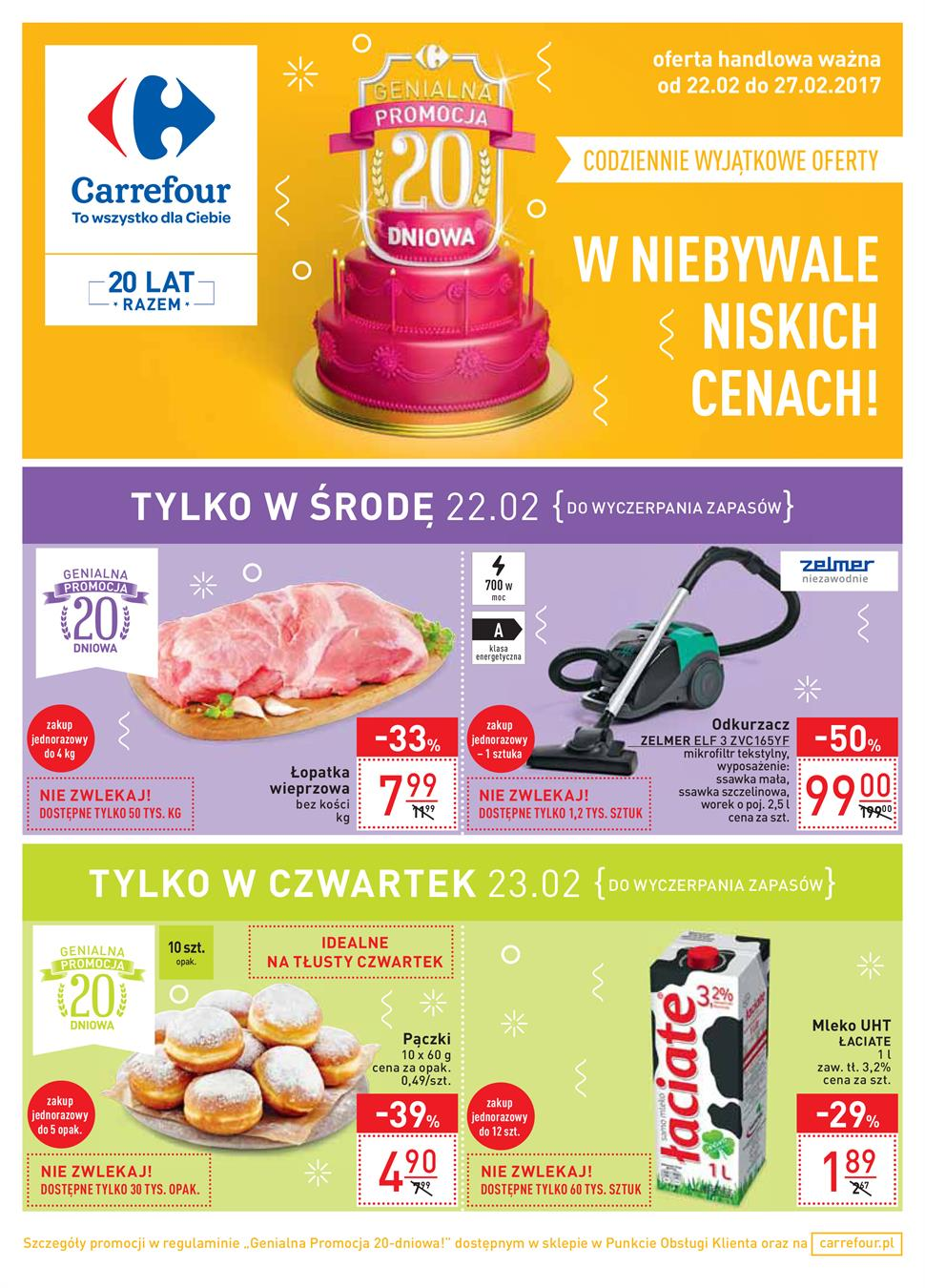 Gazetka Carrefour Polska Sp. z o.o. nr 0 od 2017-02-22 do 2017-02-27