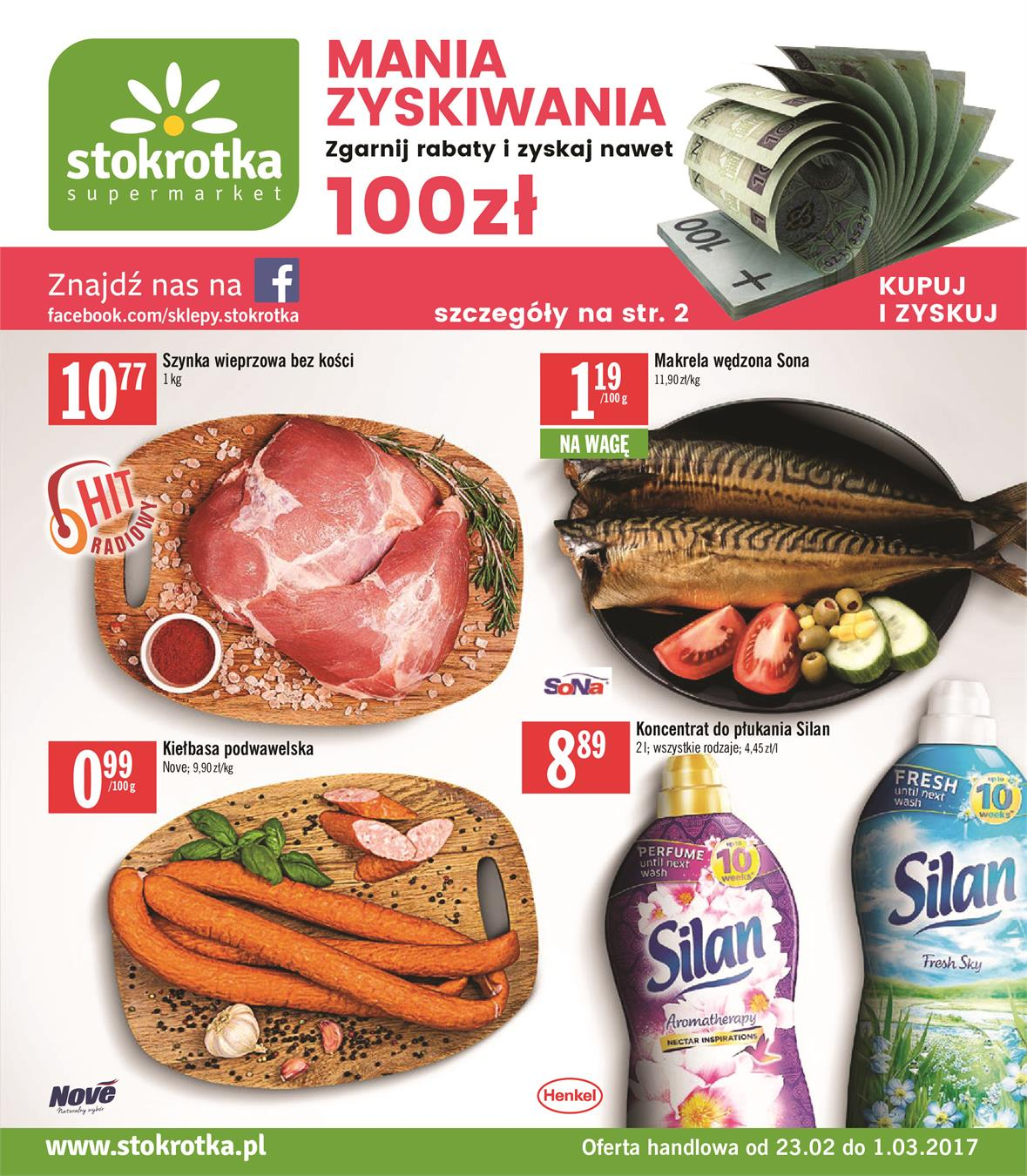 Gazetka Stokrotka Sp. z o.o. nr 0 od 2017-02-23 do 2017-03-01