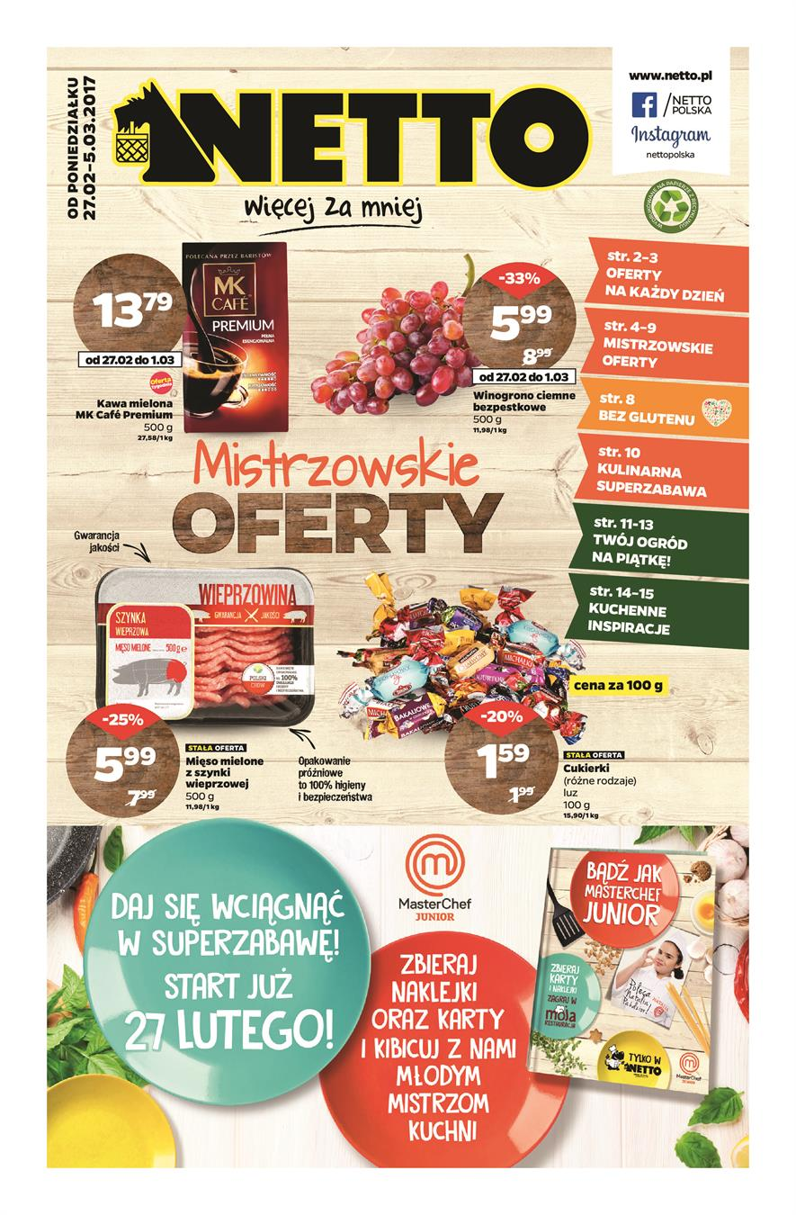 Gazetka Netto Sp. z o.o. nr 0 od 2017-02-27 do 2017-03-05