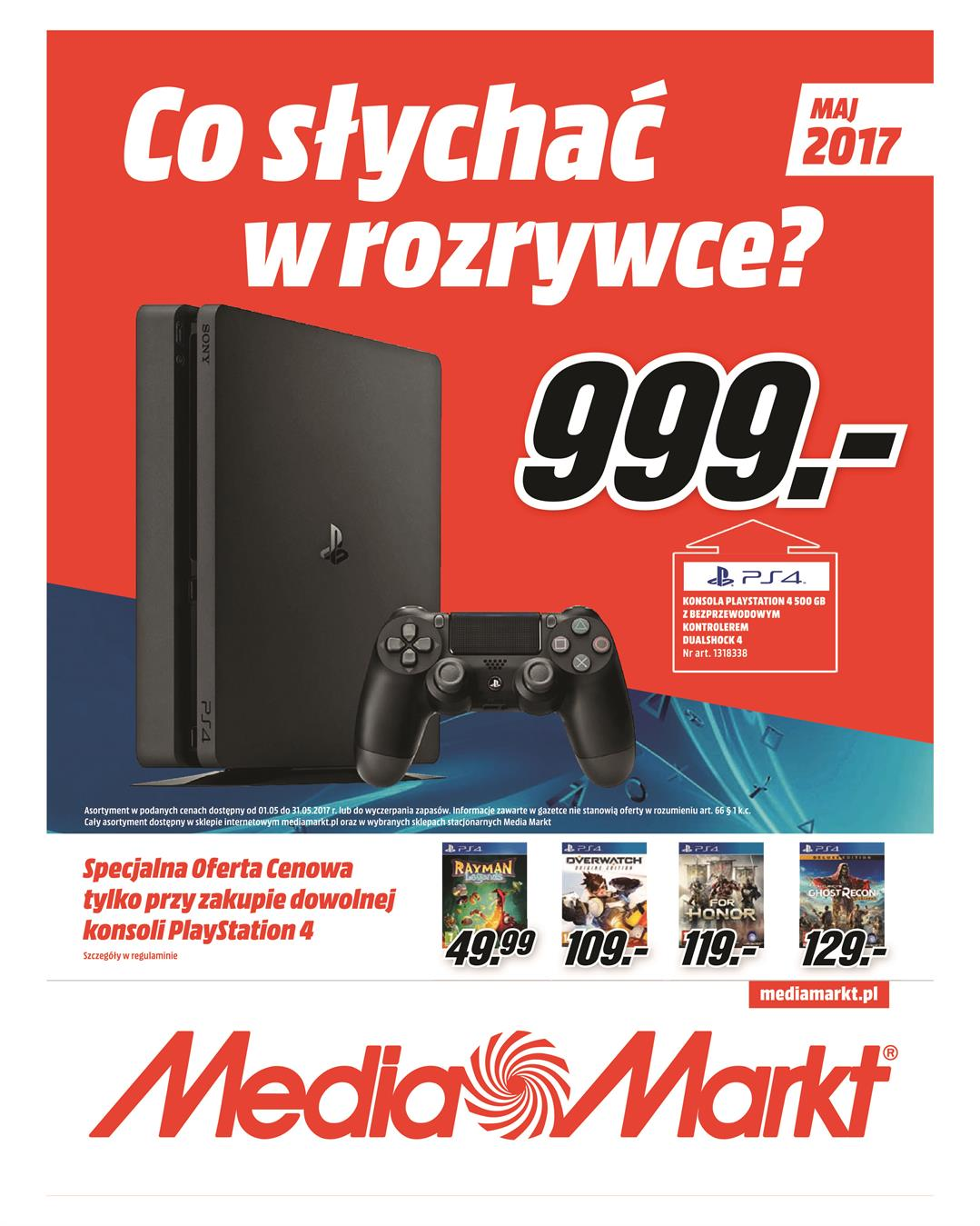 Gazetka MediaMarkt.pl nr 0 od 2017-05-04 do 2017-05-31