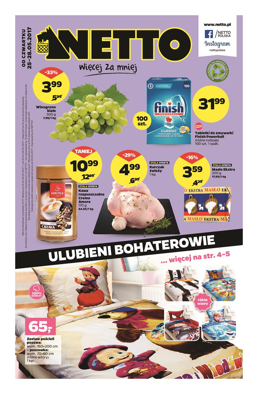 Gazetka Netto Sp. z o.o. nr 0 od 2017-05-25 do 2017-05-28